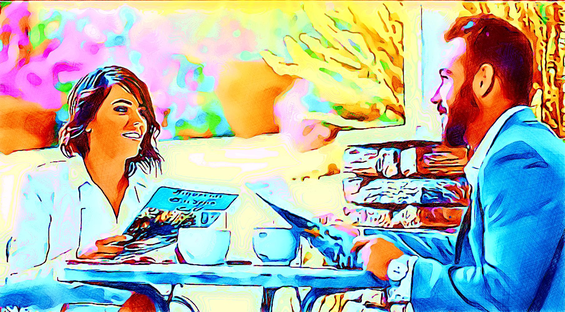Anime che si specchiano (pittura, Francesco Galgani, 28 agosto 2021)