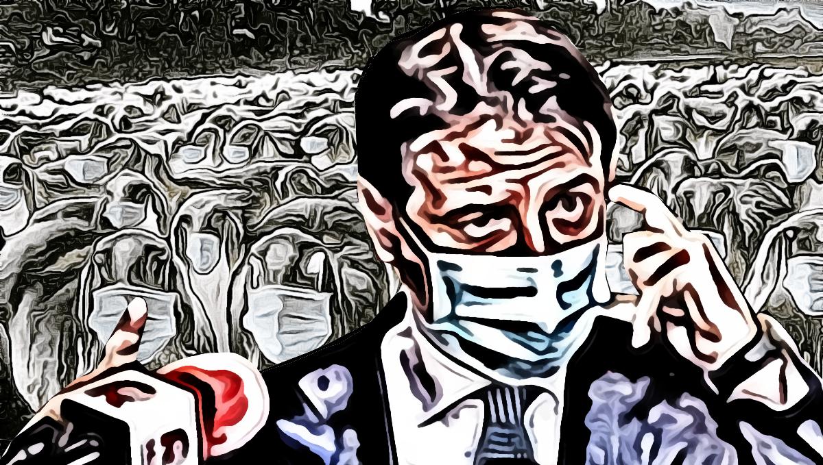Distanziamento Sociale, pittura digitale di Francesco Galgani, 17 ottobre 2020