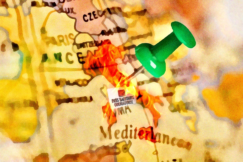 E fu così che l'Italia prese fuoco (pittura, Francesco Galgani, 18 settembre 2021)