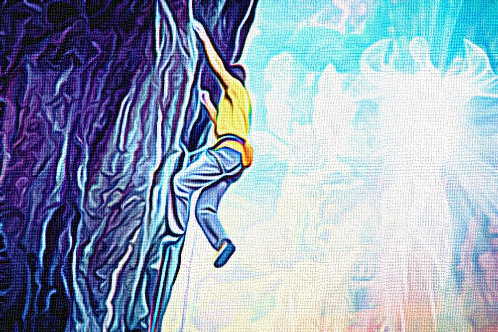 Fede, Speranza, Coraggio - pittura digitale di Francesco Galgani - 22 dicembre 2020
