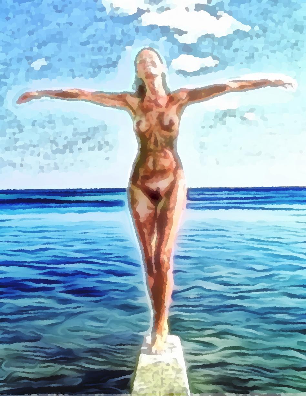 Funambola, pittura digitale di Francesco Galgani, 16 novembre 2020
