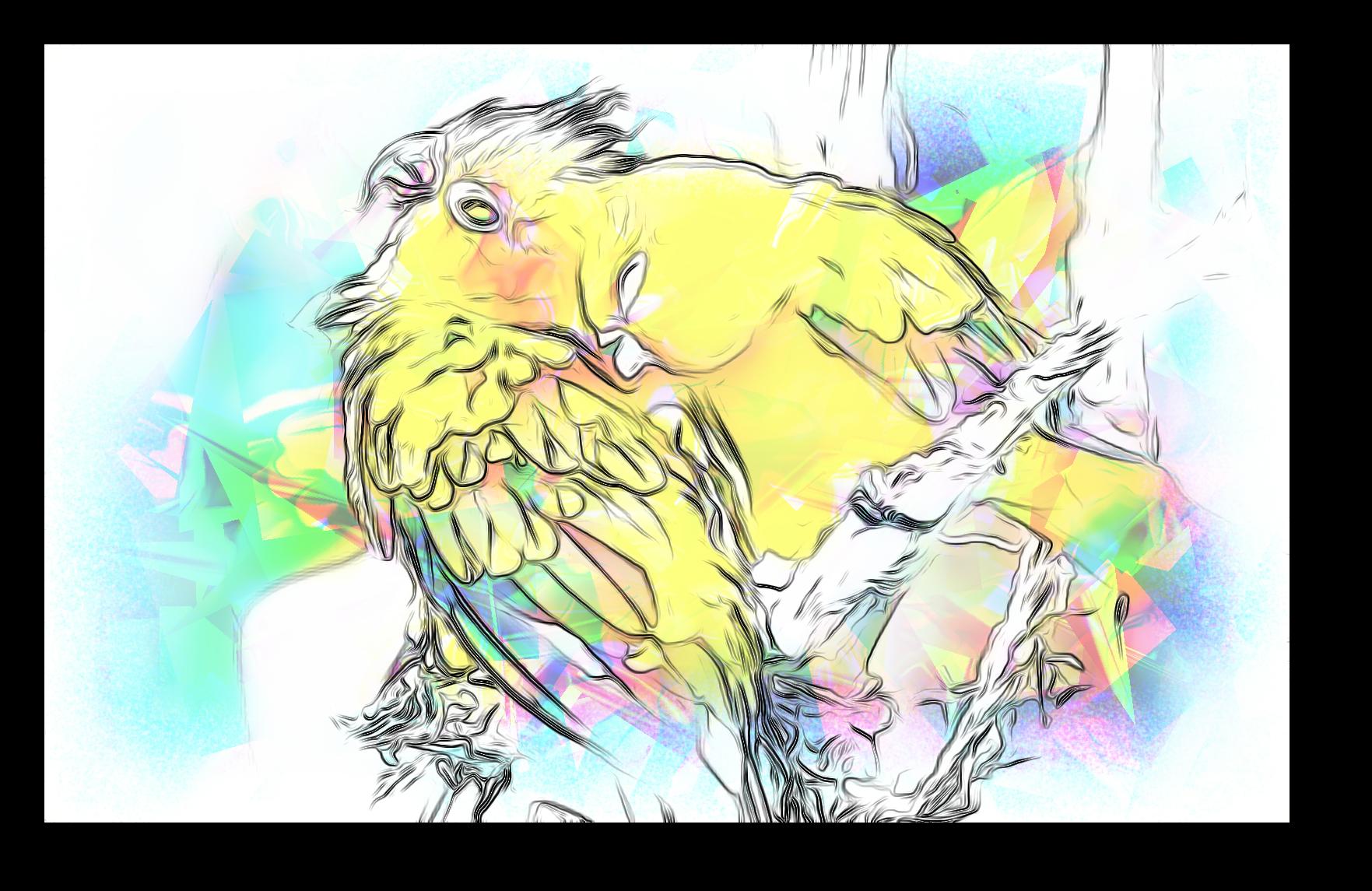 Il tempo della passera, pittura digitale di Francesco Galgani, 19 ottobre 2020