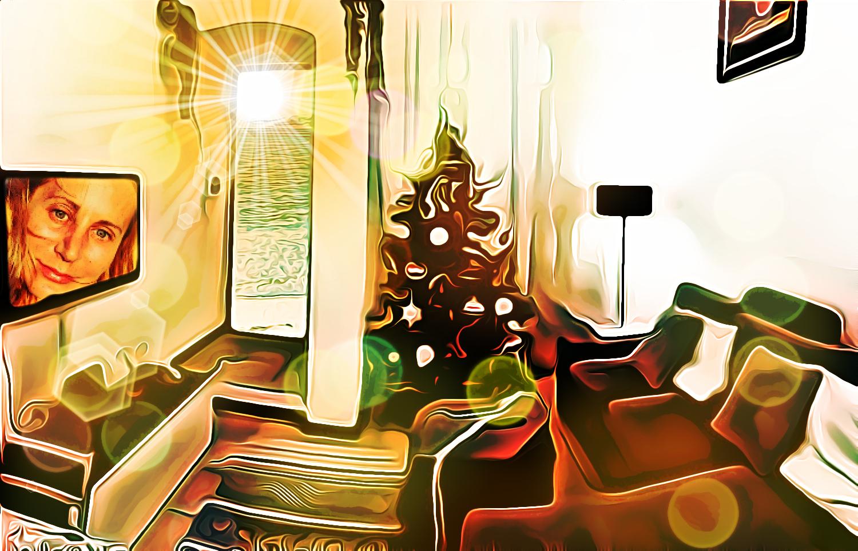 Natale al mare, pittura digitale di Francesco Galgani, 13 dicembre 2020