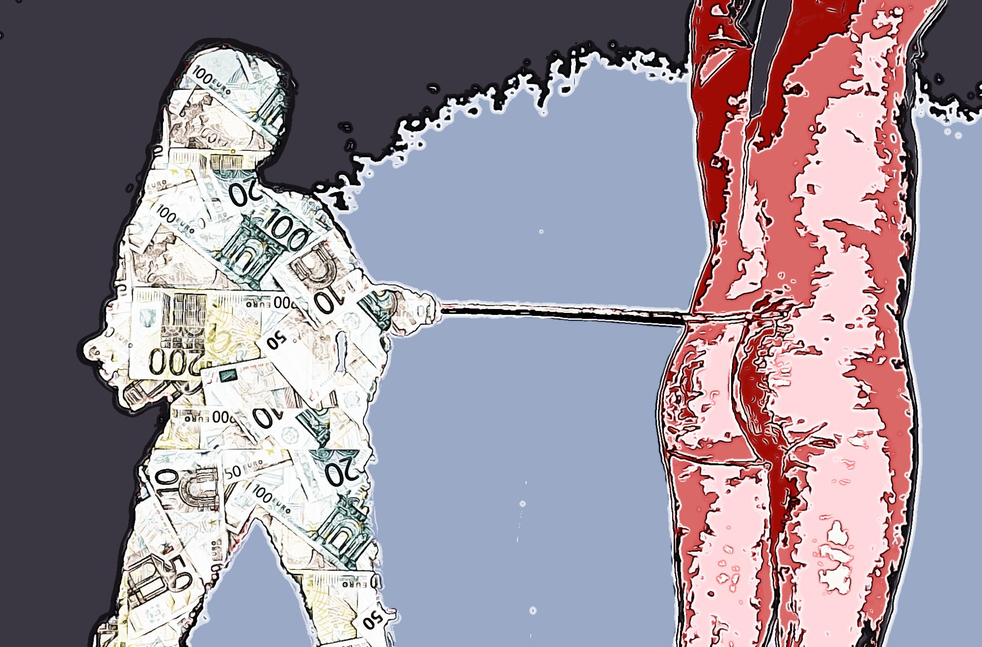 Nuovo Ordine Mondiale, pittura di Francesco Galgani, 18 ottobre 2020