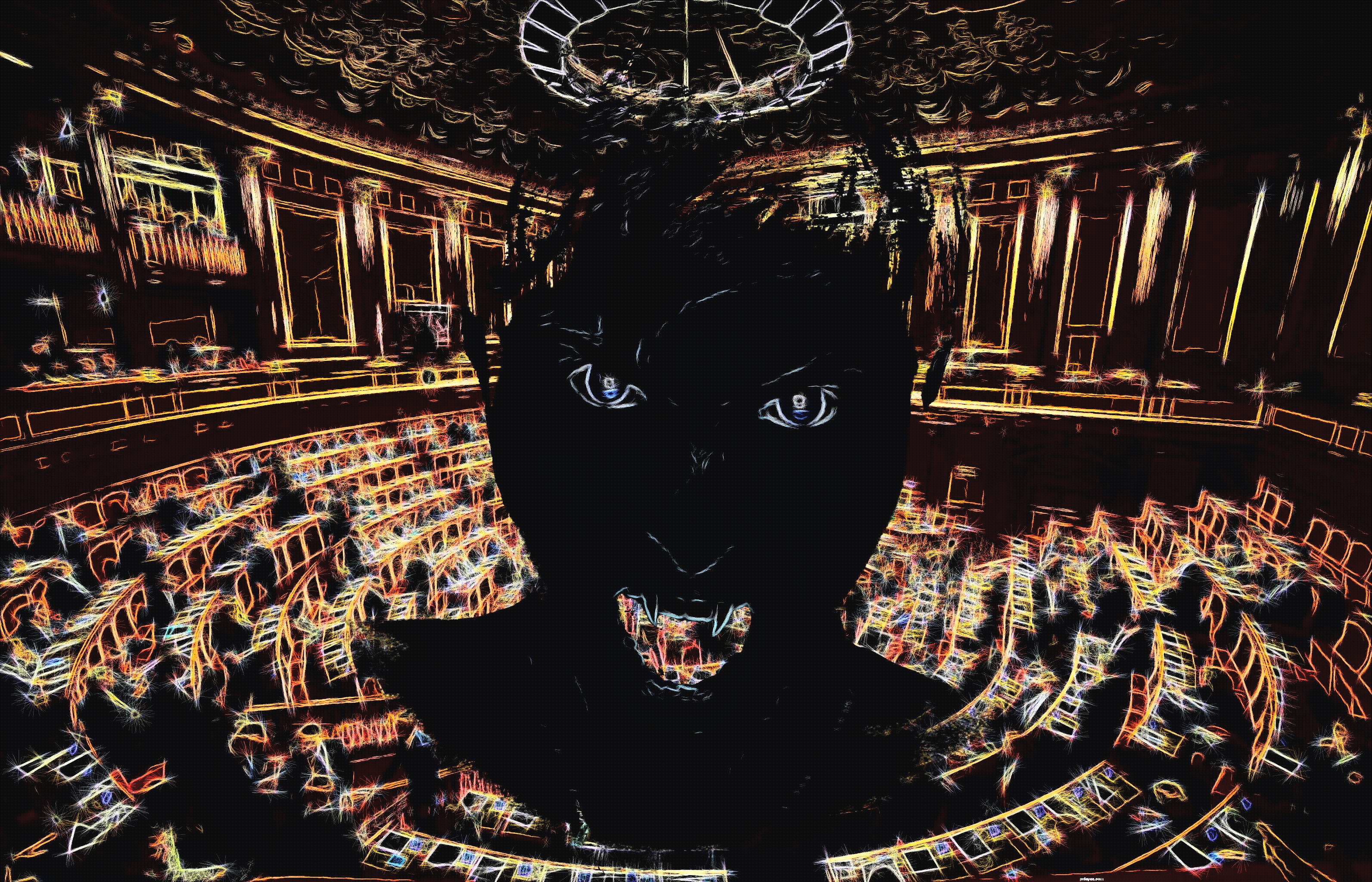 Parlamento Italiano, pittura digitale di Francesco Galgani, 13 ottobre 2020