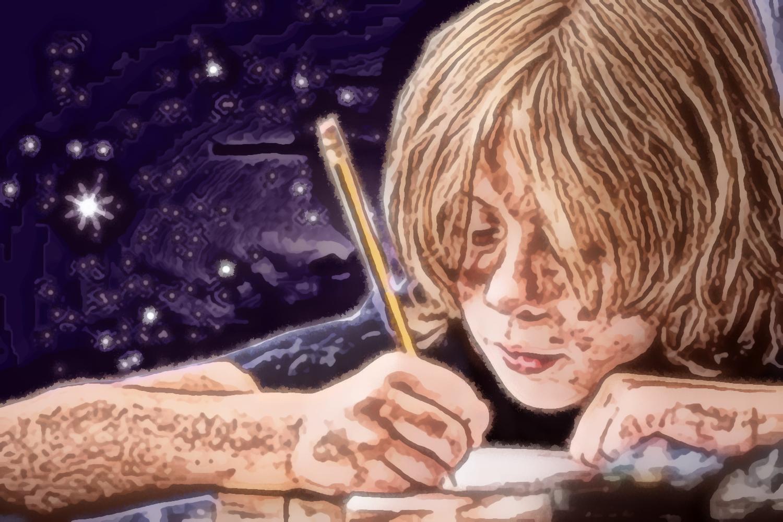 Scrittura creativa, pittura digitale di Francesco Galgani, 28 gennaio 2021
