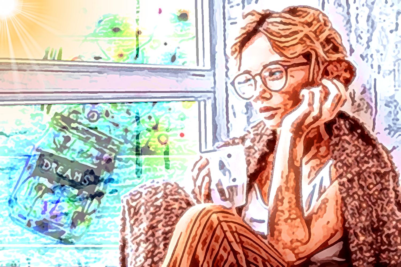 """""""Senza una grande solitudine nessun serio lavoro è possibile"""", pittura digitale di Francesco Galgani, 26 dicembre 2020"""