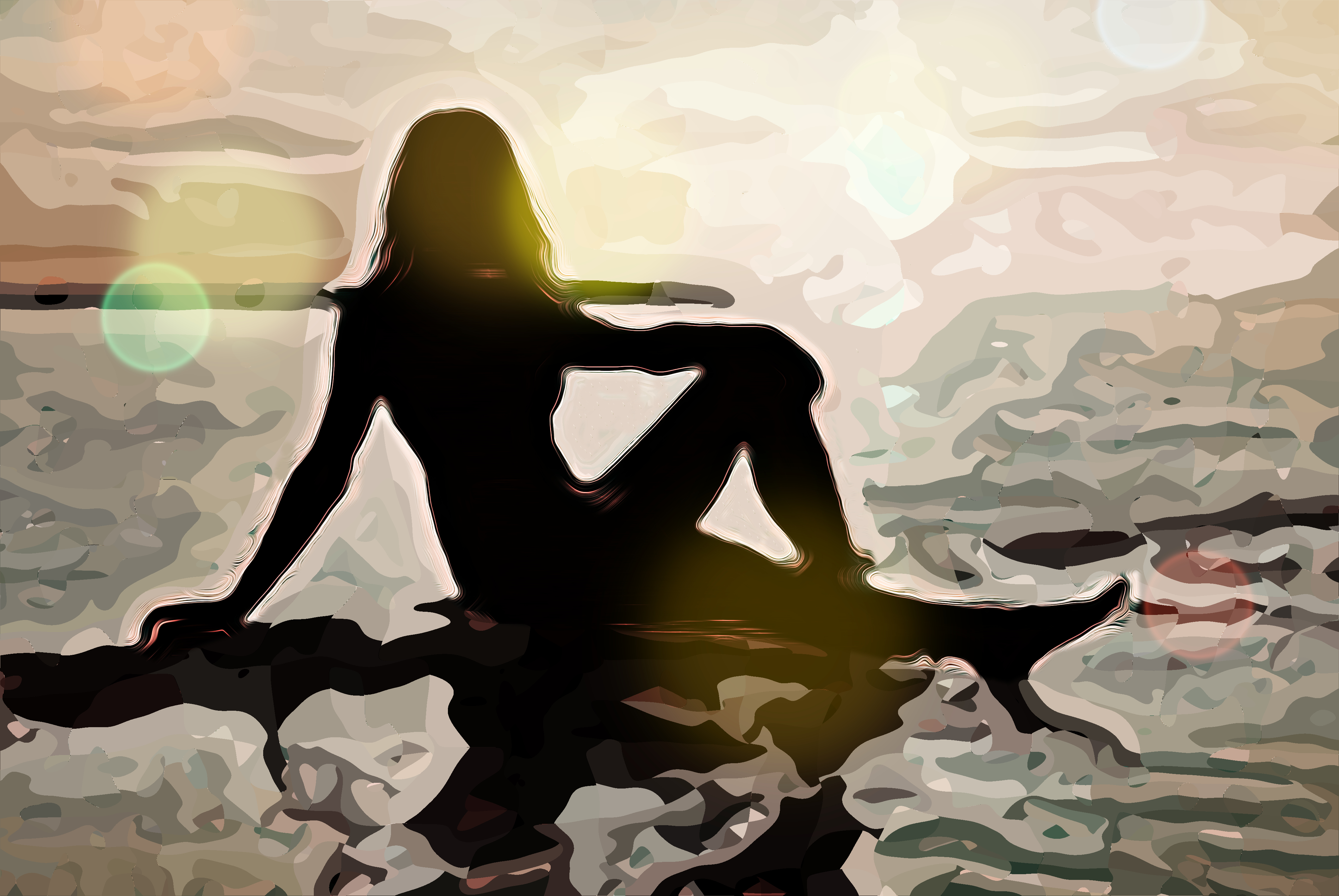 Stella, pittura digitale di Francesco Galgani, 10 ottobre 2020