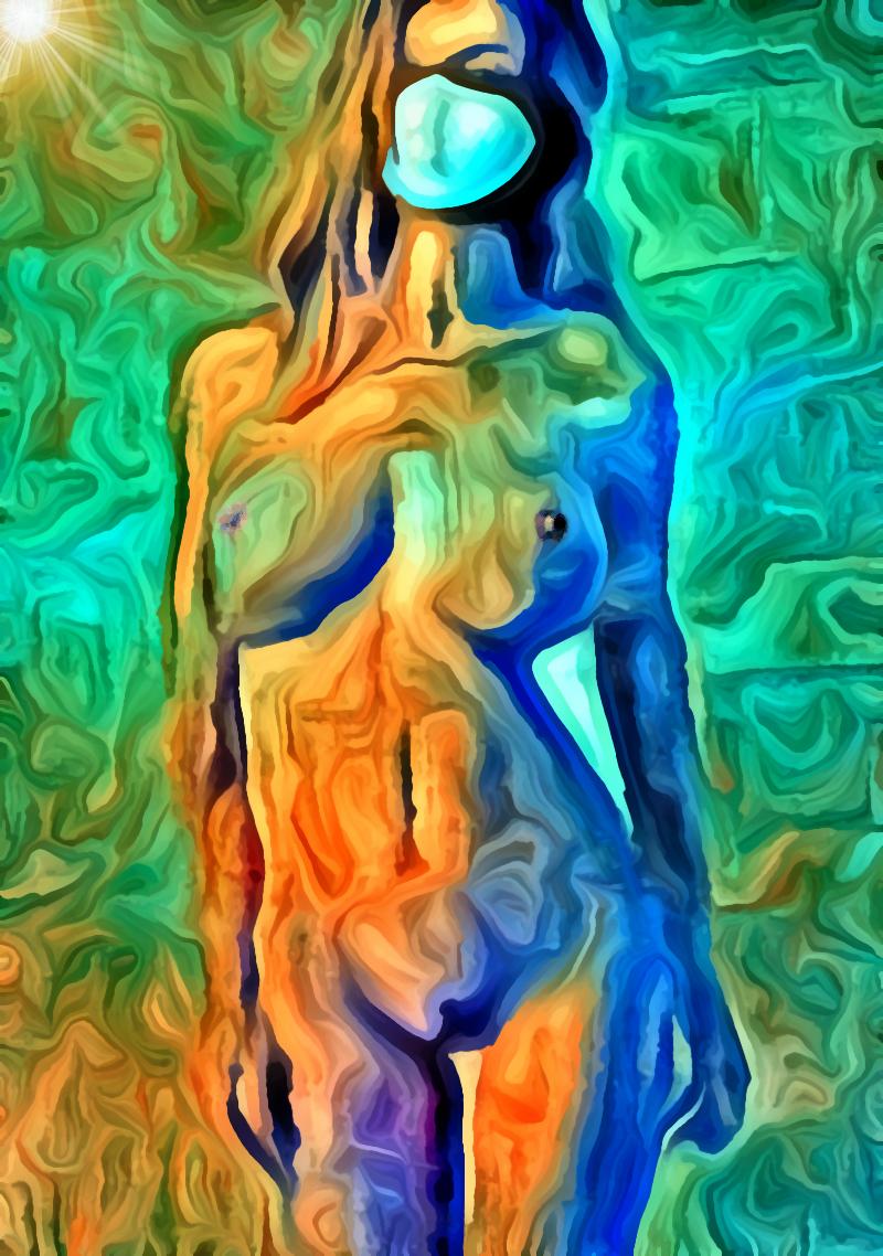 Togliti la maschera!, pittura digitale di Francesco Galgani, 22 ottobre 2020