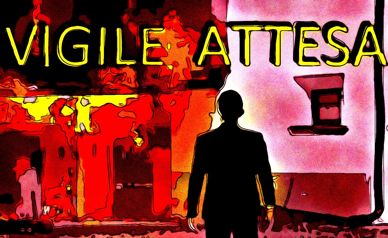 Vigile Attesa (pittura, Francesco Galgani, 10 settembre 2021)